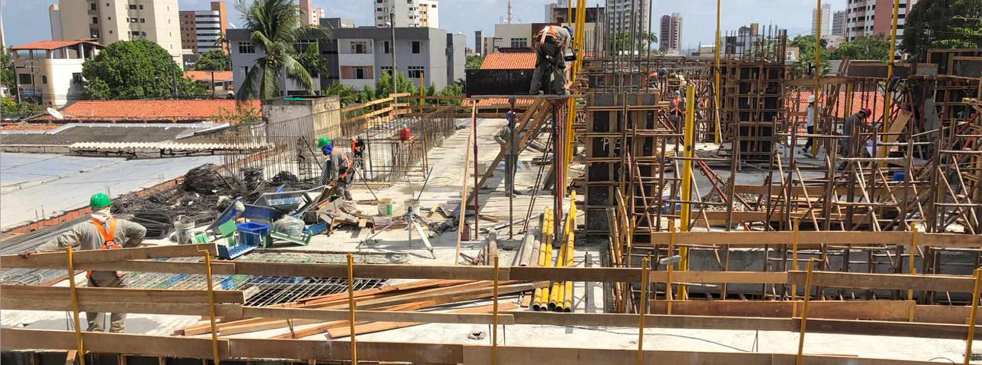 Execução dos Serviços de Estrutura - Laje Mezanino out/18