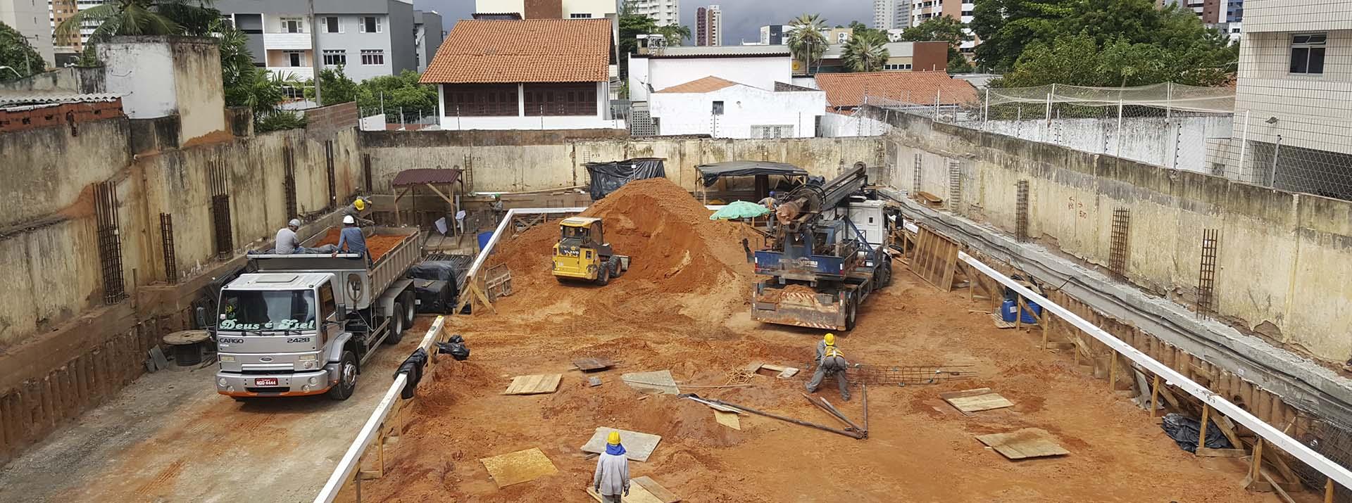 Vista canteiro de Obra - Etapa de fundação Indireta - Maio.2018