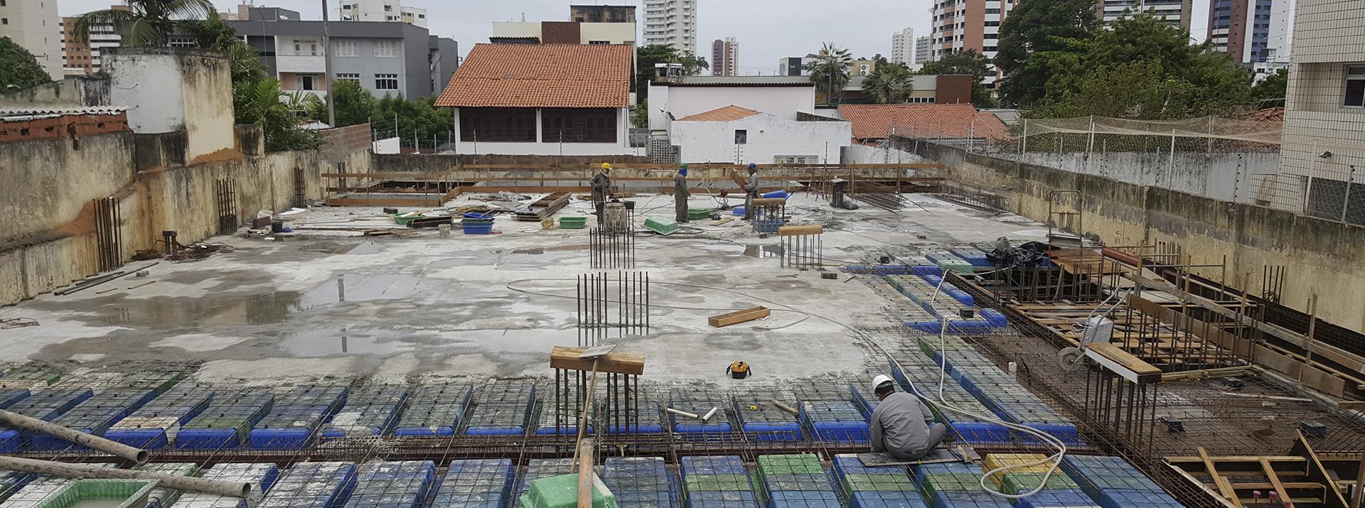 Vista Canteiro de Obra - Etapa Estrutura do Pavimento Térreo set.18